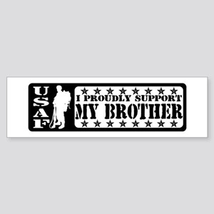 Proudly Support Bro - USAF Bumper Sticker