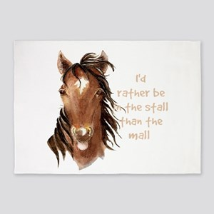 Rather be in the Stall than the Mall Horse Quote 5