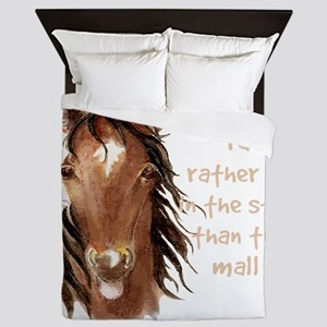 Rather be in the Stall than the Mall Horse Quote Q