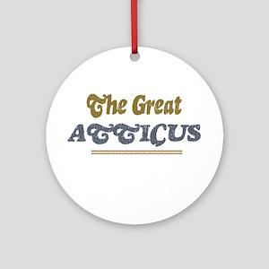 Atticus Ornament (Round)