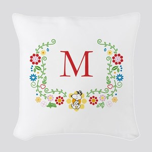 Peanuts Snoopy Floral Woven Throw Pillow