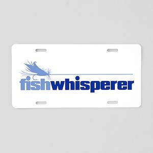 fishwhisperer 4 Aluminum License Plate