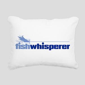 fishwhisperer 4 Rectangular Canvas Pillow