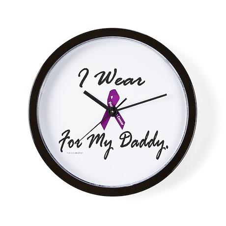 I Wear Purple 1 (Daddy PC) Wall Clock