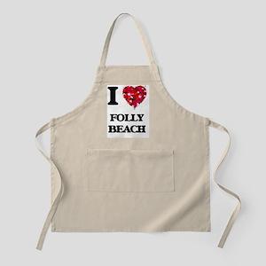 I love Folly Beach South Carolina Apron