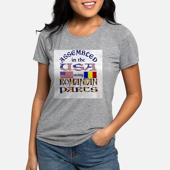 USA/Romanian Parts Ash Grey T-Shirt