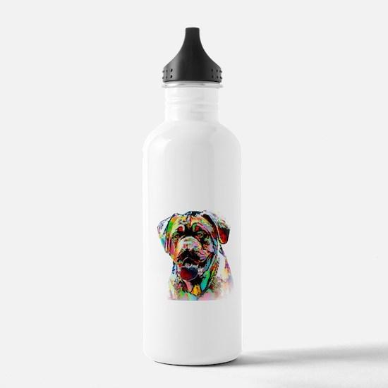 Colorful Bulldog Sports Water Bottle