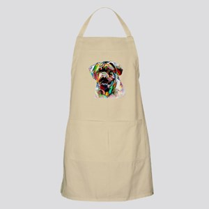 Colorful Bulldog Apron