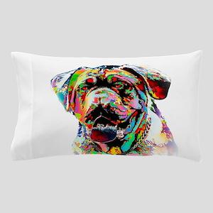 Colorful Bulldog Pillow Case