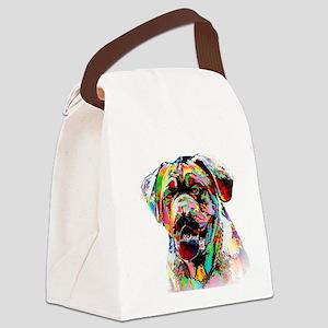 Colorful Bulldog Canvas Lunch Bag