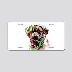Colorful Bulldog Aluminum License Plate
