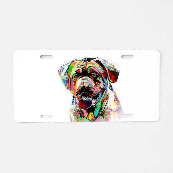 Colorful Bulldog Aluminum License Plate