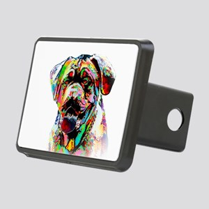 Colorful Bulldog Rectangular Hitch Cover