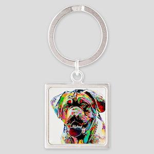 Colorful Bulldog Keychains
