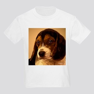 Beagle Puppy Painting as Folk Art Kids T-Shirt