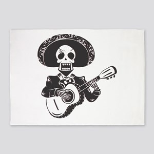 Mariachi of the Dead 5'x7'Area Rug