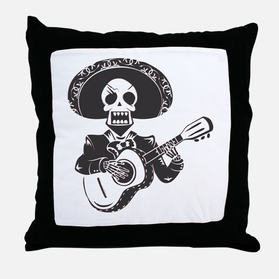 Mariachi of the Dead Throw Pillow