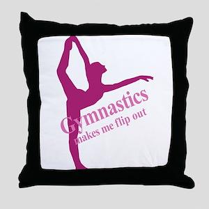Gymnastics Makes Me Flip Out Throw Pillow