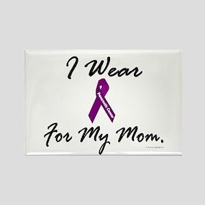 I Wear Purple 1 (Mom PC) Rectangle Magnet