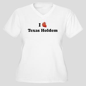 I (Heart) Texas Holdem Women's Plus Size V-Neck T-