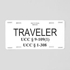 Exempt Traveler Aluminum License Plate