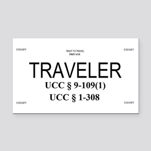 Exempt Traveler Rectangle Car Magnet