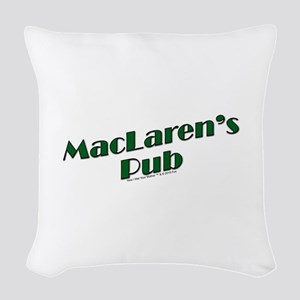 MacLaren's Pub Woven Throw Pillow