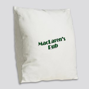 MacLaren's Pub Burlap Throw Pillow