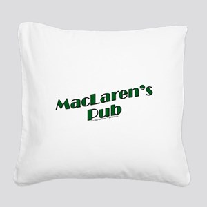 MacLaren's Pub Square Canvas Pillow