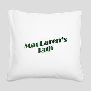 MacLaren's Pub Square Canvas Pillow