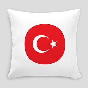 Turkish Flag Everyday Pillow