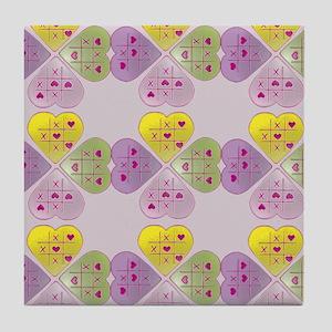 Candy Heart Tile Coaster