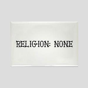 Religion: None Rectangle Magnet