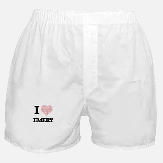 I love Emery (heart made from words) Boxer Shorts