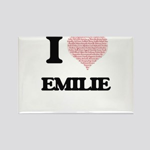 I love Emilie (heart made from words) desi Magnets