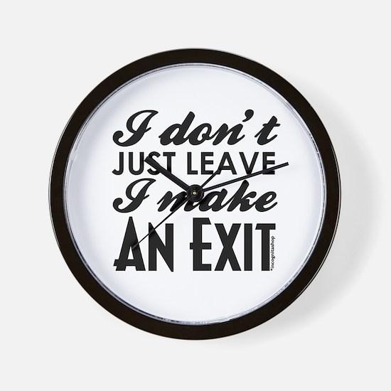 Exit Wall Clock