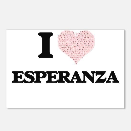 I love Esperanza (heart m Postcards (Package of 8)
