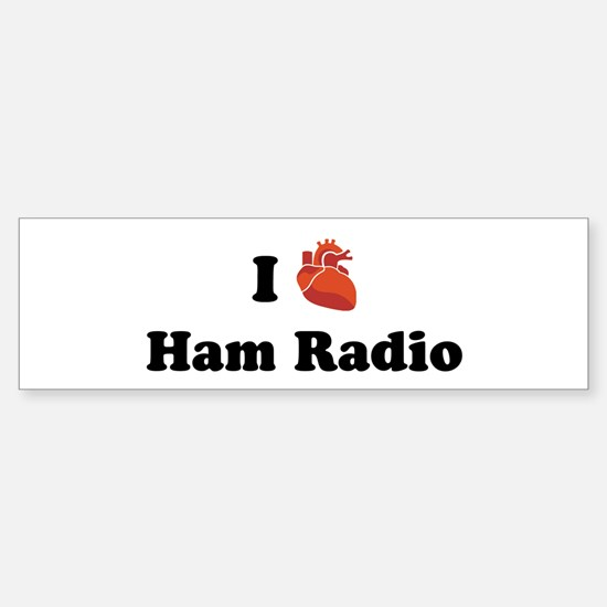 I (Heart) Ham Radio Bumper Bumper Bumper Sticker