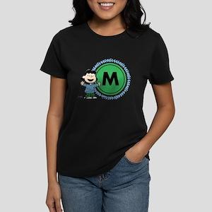 Peanuts Lucy Monogram Women's Dark T-Shirt