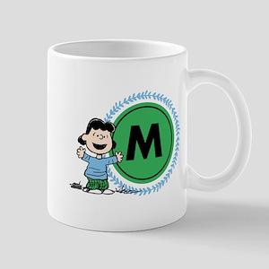 Peanuts Lucy Monogram 11 oz Ceramic Mug