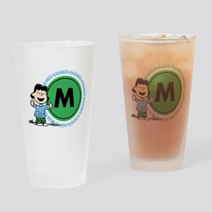 Peanuts Lucy Monogram Drinking Glass