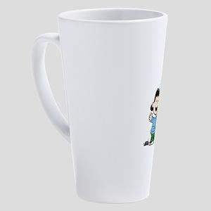 Peanuts Lucy Monogram 17 oz Latte Mug
