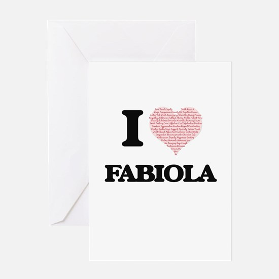 I love Fabiola (heart made from wor Greeting Cards