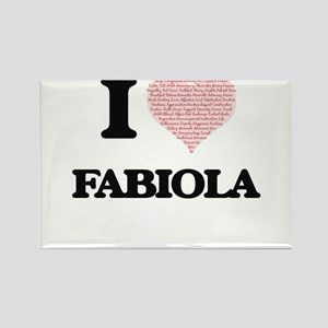 I love Fabiola (heart made from words) des Magnets