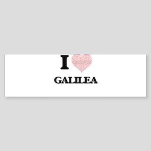 I love Galilea (heart made from wor Bumper Sticker