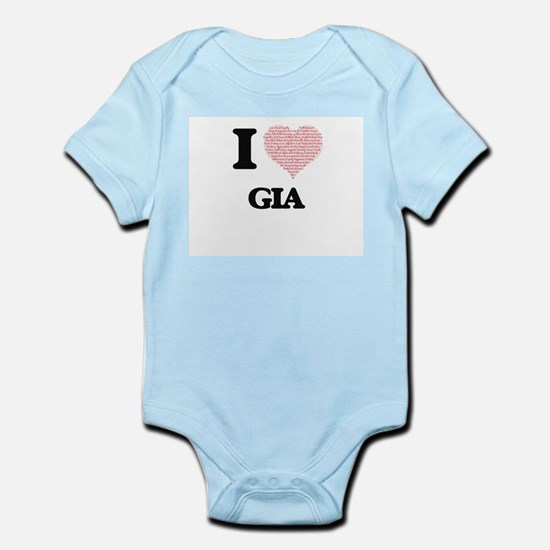 I love Gia (heart made from words) desig Body Suit