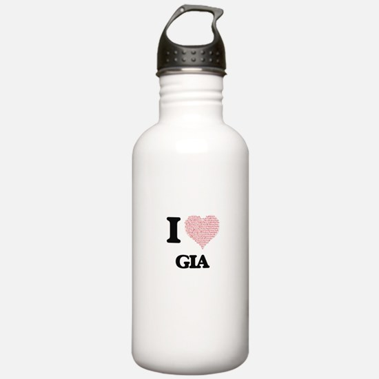I love Gia (heart made Water Bottle