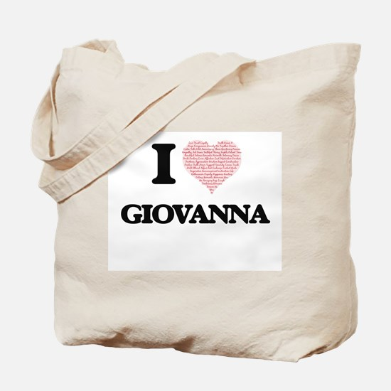 I love Giovanna (heart made from words) d Tote Bag