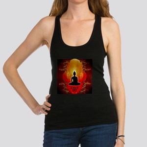 Buddha in the sunset Racerback Tank Top