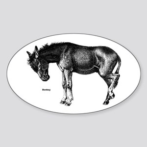 Donkey Oval Sticker